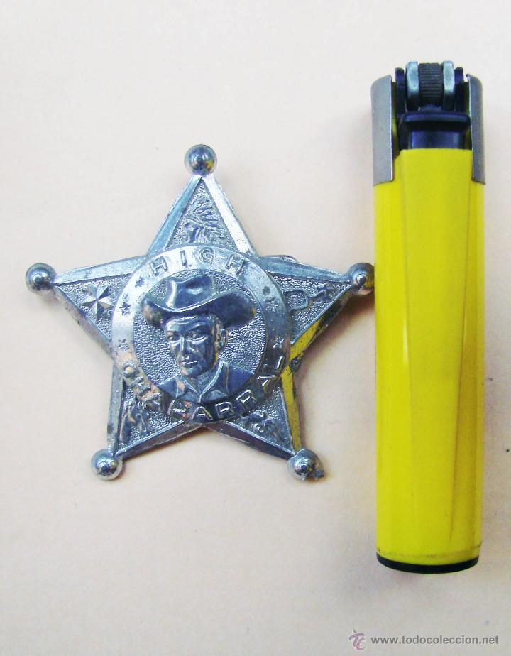 Videojuegos y Consolas: ESTRELLA DE SHERIFF DE PLASTICO PLATEADO Y AGUJA INPERDIBLE AÑOS 50 & 60...HIGH CHAPARRAL - Foto 3 - 51341823