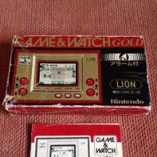 Videojuegos y Consolas: NINTENDO GAME&WATCH GOLD SERIES LION LN-08 JAPANESE CAJA VACIA + TAPAS MANUAL RAROS LEER R2694. Lote 51981571