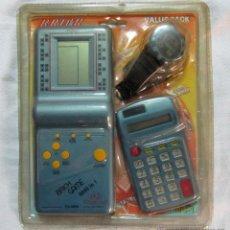 Videojuegos y Consolas: CONSOLA BRIK GAME 9999 + CALCULADORA + RELOJ. Lote 52122561