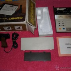 Videojuegos y Consolas: TV GAME CONIC TVG 406-6 AÑOS 70´S IN BOX & MANUAL RUNNING GAME AND SOUND. Lote 52714067