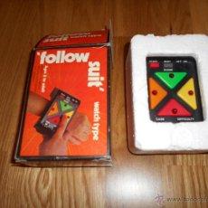 Videojuegos y Consolas: FOLLOW SUIT' WATCH TYPE (1980) MAQUINITA RELOJ SIMON MUY MUY RARO. Lote 52824022