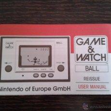 Videojuegos y Consolas: NINTENDO GAME & WATCH BALL REEDITION CLUB NINTENDO ENGLISH INSTRUCTION MANUAL R2928. Lote 52925391
