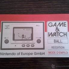 Videojuegos y Consolas: NINTENDO GAME & WATCH BALL REEDITION CLUB NINTENDO FRENCH INSTRUCTION MANUAL R2929. Lote 52925397