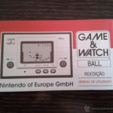 Videojuegos y Consolas: NINTENDO GAME & WATCH BALL REEDITION CLUB NINTENDO PORTUGUESE INSTRUCTION MANUAL R2930. Lote 52925409