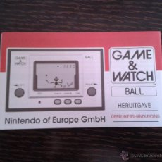 Videojuegos y Consolas: NINTENDO GAME & WATCH BALL REEDITION CLUB NINTENDO DUTCH INSTRUCTION MANUAL R2931. Lote 52925414