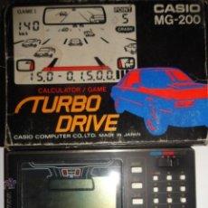 Videojuegos y Consolas: TURBO DRIVE CASIO MG-200 NO GAME WATCH FUNCIONANDO. Lote 53280261