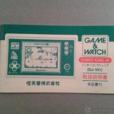Videojuegos y Consolas: NINTENDO GAME&WATCH WIDESCREEN DONKEY KONG JR. DJ-101 JAPAN INSTRUCTION MANUAL R3199. Lote 53602509