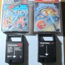 Videojuegos y Consolas: LOTE DE 2 JUEGOS: SPACE MONSTERS PARA VIDEOPAC Y TERRAHAWKS PARA VIDEOPAC+. Lote 53767926