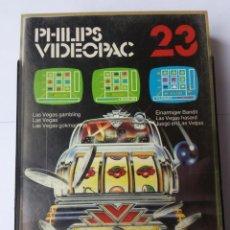 Videojuegos y Consolas: JUEGO EN LAS VEGAS (LAS VEGAS GAMBLING). JUEGO #23 DE LA CONSOLA PHILIPS VIDEOPAC. Lote 54005041