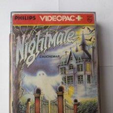 Videojuegos y Consolas: NIGHTMARE. PHILIPS VIDEOPAC #53. JUEGO CONSOLA RETRO (1983). VINTAGE. Lote 54146164