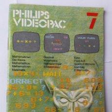Videojuegos y Consolas: MATEMÁTICAS. PHILIPS VIDEOPAC #7. JUEGO CONSOLA RETRO (1980). VINTAGE. Lote 54146447