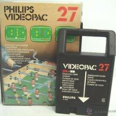 Videojuegos y Consolas: VIDEOJUEGO VIDEOPAC PHILIPS - ELECTRONIC TABLE FOOTBALL N.27 ¡¡ COMPLETO ¡¡ FUTBOL AÑOS 80. Lote 54939036