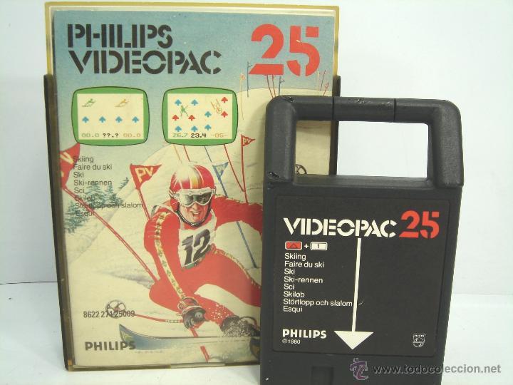 VIDEOJUEGO VIDEOPAC PHILIPS - SKIING N.25 ¡¡ COMPLETO ¡¡ SKI AÑOS 80 (Juguetes - Videojuegos y Consolas - Otros descatalogados)