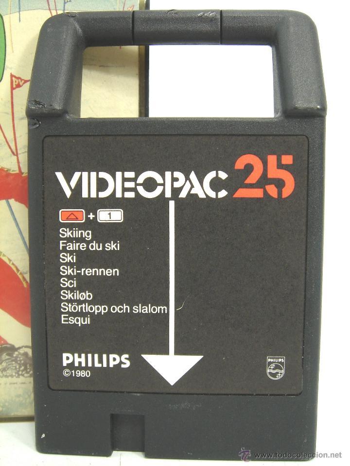 Videojuegos y Consolas: VIDEOJUEGO VIDEOPAC PHILIPS - SKIING N.25 ¡¡ COMPLETO ¡¡ SKI AÑOS 80 - Foto 2 - 54939419