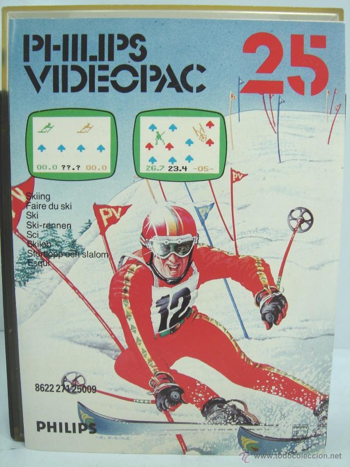 Videojuegos y Consolas: VIDEOJUEGO VIDEOPAC PHILIPS - SKIING N.25 ¡¡ COMPLETO ¡¡ SKI AÑOS 80 - Foto 4 - 54939419