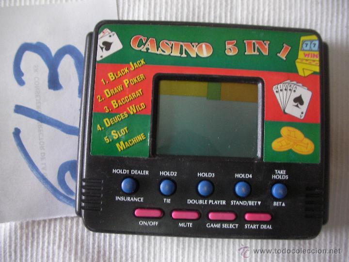 MINII CONSOLA DE JUEGOS CASINO 5 EN 1 NUEVA (Juguetes - Videojuegos y Consolas - Otros descatalogados)