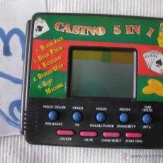 Videojuegos y Consolas: MINII CONSOLA DE JUEGOS CASINO 5 EN 1 NUEVA . Lote 55067612