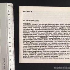 Videojuegos y Consolas: MANUAL DE INSTRUCCIONES ORDENADOR SPECTRUM AMSTRAD AMIGA PC KICK OFF 2 II. Lote 56568187