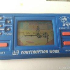 Videojuegos y Consolas: MAQUINITA CONSTRUCTION WORK MODEL YG 262 A MORIOKA TOKEI JAPAN NO GAME WATCH DUAL S CREEN. Lote 57397648