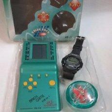 Videojuegos y Consolas: SET DE CONSOLA BRICK GAME , RELOJ Y YOYO EN BLISTER , CAJA ORIGINAL . Lote 58601137