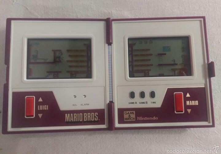 Videojuegos y Consolas: CONSOLA MARIO BROS. NINTENDO COMPLETA CAJA E INSTRUCCIONES - 1983 GAME & WATCH MW-56 MULTI SCREEN - Foto 2 - 60593379