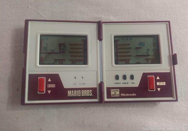 Videojuegos y Consolas: CONSOLA MARIO BROS. NINTENDO COMPLETA CAJA E INSTRUCCIONES - 1983 GAME & WATCH MW-56 MULTI SCREEN - Foto 3 - 60593379