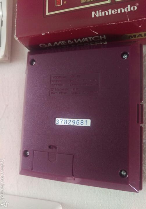 Videojuegos y Consolas: CONSOLA MARIO BROS. NINTENDO COMPLETA CAJA E INSTRUCCIONES - 1983 GAME & WATCH MW-56 MULTI SCREEN - Foto 7 - 60593379
