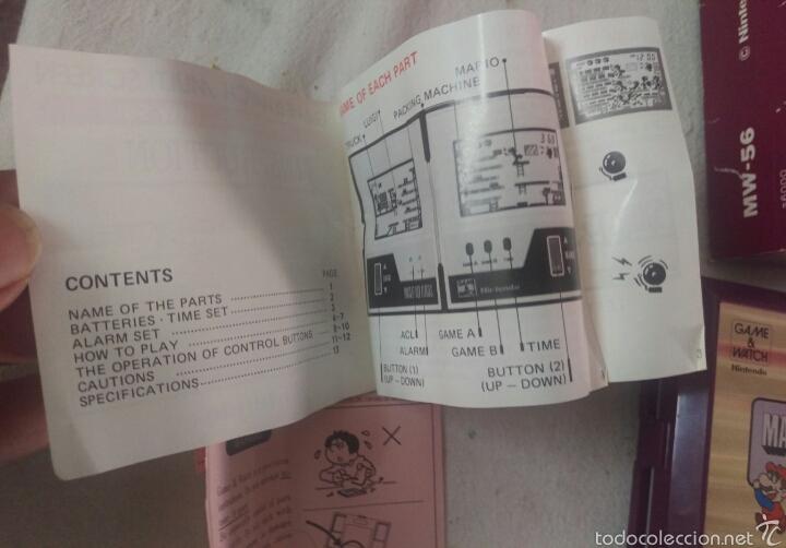 Videojuegos y Consolas: CONSOLA MARIO BROS. NINTENDO COMPLETA CAJA E INSTRUCCIONES - 1983 GAME & WATCH MW-56 MULTI SCREEN - Foto 9 - 60593379