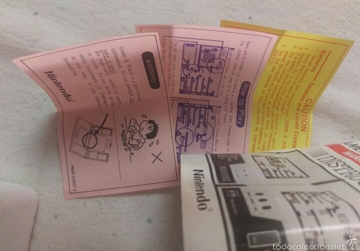 Videojuegos y Consolas: CONSOLA MARIO BROS. NINTENDO COMPLETA CAJA E INSTRUCCIONES - 1983 GAME & WATCH MW-56 MULTI SCREEN - Foto 10 - 60593379