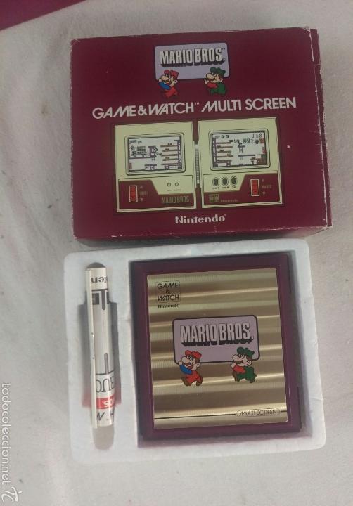 Videojuegos y Consolas: CONSOLA MARIO BROS. NINTENDO COMPLETA CAJA E INSTRUCCIONES - 1983 GAME & WATCH MW-56 MULTI SCREEN - Foto 11 - 60593379