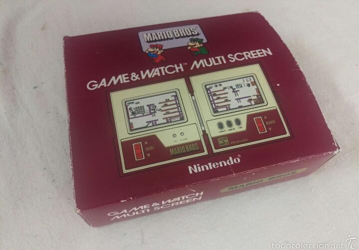 Videojuegos y Consolas: CONSOLA MARIO BROS. NINTENDO COMPLETA CAJA E INSTRUCCIONES - 1983 GAME & WATCH MW-56 MULTI SCREEN - Foto 12 - 60593379