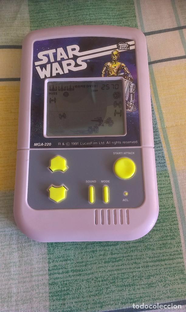 CONSOLA DE VIDEOJUEGO MGA-220, STAR WARS, 1991, MICRO GAMES OF AMERICA, ATAQUE ESTRELLA MUERTE (Juguetes - Videojuegos y Consolas - Otros descatalogados)