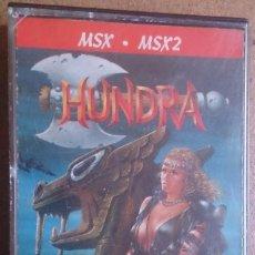 Videojuegos y Consolas: JUEGO MSX CINTA CASSETTE HUNDRA . Lote 62447876