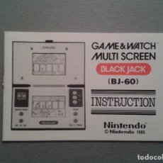 Videospiele und Konsolen - NINTENDO GAME & WATCH BLACK JACK BJ-60 ORIGINAL INSTRUCTION MANUAL MINT AS NEW R2602 - 51385591
