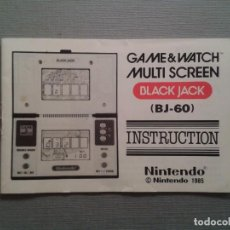 Videospiele und Konsolen - NINTENDO GAME & WATCH BLACK JACK BJ-60 ORIGINAL INSTRUCTION MANUAL USE MARKS R4941 - 64126555
