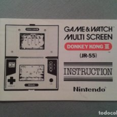 Videojuegos y Consolas: NINTENDO GAME&WATCH MULTISCREEN DONKEY KONG II DK-52 ORIGINAL MANUAL NEAR MINT R2618. Lote 51501386