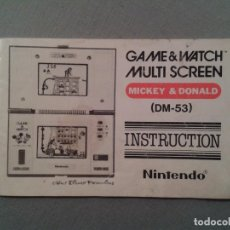 Videospiele und Konsolen - NINTENDO GAME & WATCH MULTISCREEN MICKEY&DONALD DM-53 ORIGINAL MANUAL USE MARKS R3643 - 57331338