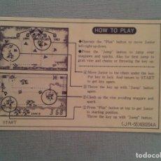 Videojuegos y Consolas: NINTENDO GAME&WATCH MULTISCREEN DONKEY KONG II JR-55 ORIGINAL HOW TO PLAY SHEET R4958. Lote 96704532