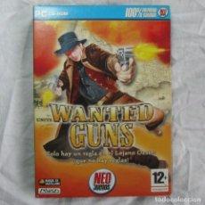 Videojuegos y Consolas: JUEGO DE PC WANTED GUNS NEO JUEGOS MANUAL EN CASTELLANO. Lote 67421561
