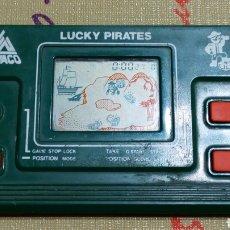Videospiele und Konsolen - Maquinita video juego tipo Game watch Lucky Pirates Liwaco color verde. Años 80. - 69125349