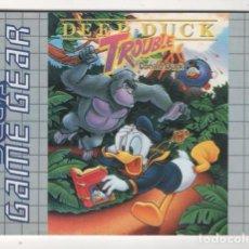 Videojuegos y Consolas: (TC-12) MANUAL DE INSTRUCCIONES SEGA GAME GEAR DEEP DUCK TROUBLE . Lote 70284321