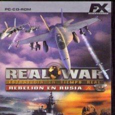Videojuegos y Consolas: REAL WAR *** REBELION EN RUSIA *** PC CD-ROM. Lote 75533599