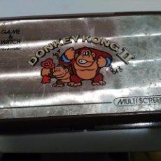 Videojuegos y Consolas: MAQUINITA GAME WATCH NINTENDO 1983 DONKEY KONG 2 FUNCIONANDO PERO PARA PIEZAS. Lote 79181053
