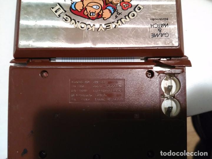 Videojuegos y Consolas: Maquinita game watch Nintendo 1983 Donkey Kong 2 funcionando pero para piezas - Foto 3 - 79181053