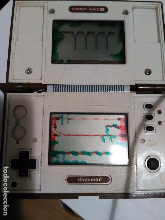 Videojuegos y Consolas: Maquinita game watch Nintendo 1983 Donkey Kong 2 funcionando pero para piezas - Foto 4 - 79181053