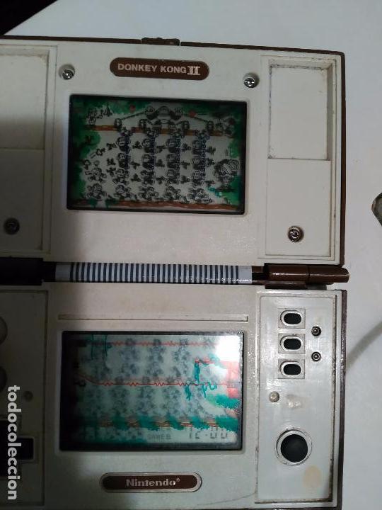 Videojuegos y Consolas: Maquinita game watch Nintendo 1983 Donkey Kong 2 funcionando pero para piezas - Foto 6 - 79181053