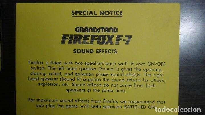 Videojuegos y Consolas: Juego electrónico Grandstand Firefox F-7 con su caja- Japón 1983 - FUNCIONANDO - VER VIDEO - Foto 11 - 82098080