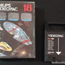 Videojuegos y Consolas: JUEGO CARTUCHO DE LA CONSOLA PHILIPS VIDEOPAC VIDEO PAC 18 LASER WAR COMPLETO. Lote 82199616