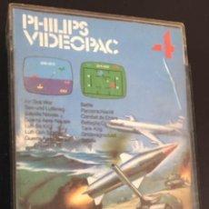 Videojuegos y Consolas: CAJA E INSTRUCCIONES DEL JUEGO PHILIPS VIDEOPAC VIDEO PAC 4 AIR-SEA WAR. Lote 82200524