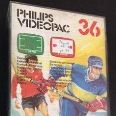 Videojuegos y Consolas: CAJA E INSTRUCCIONES DEL JUEGO PHILIPS VIDEOPAC VIDEO PAC 36 FUTBOL E HOCKEY. Lote 82200656